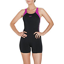 Buy Speedo Boom Splice Legsuit Swimsuit, Black/Diva Online at johnlewis.com