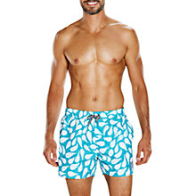 "Buy Speedo Elemental Flow Vintage 14"" Watershorts, Enamel Blue/White Online at johnlewis.com"