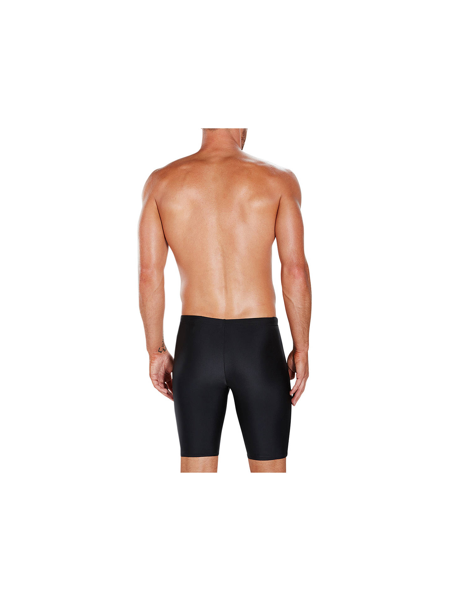 Buy Speedo Gala Logo Jammers Swimming Shorts, Black/Charcoal, 30L Online at johnlewis.com