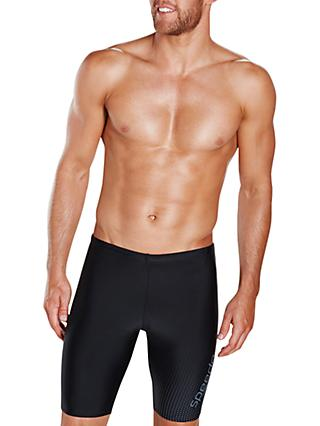 Speedo Gala Logo Jammers Swimming Shorts, Black