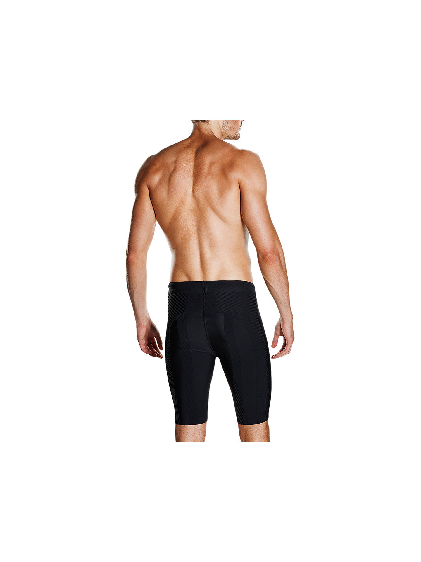 Buy Speedo Fit Powerform Pro Jammers Swimming Shorts, Black/Orange, 36 Online at johnlewis.com