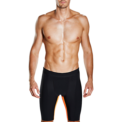Image of Speedo Fit Powerform Pro Jammers Swimming Shorts, Black/Orange