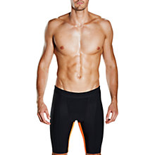 Buy Speedo Fit Powerform Pro Jammers Swimming Shorts, Black/Orange Online at johnlewis.com