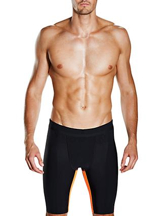 Speedo Fit Powerform Pro Jammers Swimming Shorts, Black/Orange