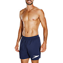 "Buy Speedo Sport Solid 16"" Watershorts, Navy/White Online at johnlewis.com"