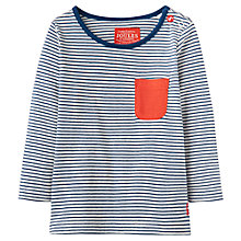 Buy Baby Joule Oscar Stripe Top, Navy Online at johnlewis.com