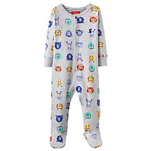 Buy Baby Joules Ziggy Bear Sports Stars Sleepsuit, Grey Online at johnlewis.com