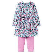 Buy Baby Joule Christina Kitty Ditsy Floral Dress and Leggings Set, Pink Online at johnlewis.com