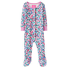 Buy Baby Joule Kitty Ditzy Razmataz Floral Sleepsuit, Pink Online at johnlewis.com