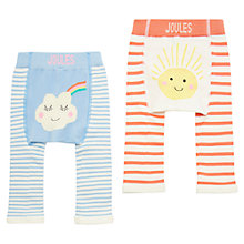 Buy Baby Joules Lively Sunny Weather Footless Leggings, Pack of 2, Blue/Red Online at johnlewis.com