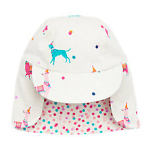 Buy Baby Joule Reversible Festival Friends Legionnaires Hat, Cream/Pink Online at johnlewis.com
