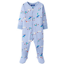 Buy Baby Joule Tortoise and Hare Ziggy Sleepsuit, Blue Online at johnlewis.com