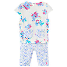 Buy Baby Joule Baby Paula Posy Floral Top and Leggings Set, Cream/Blue Online at johnlewis.com
