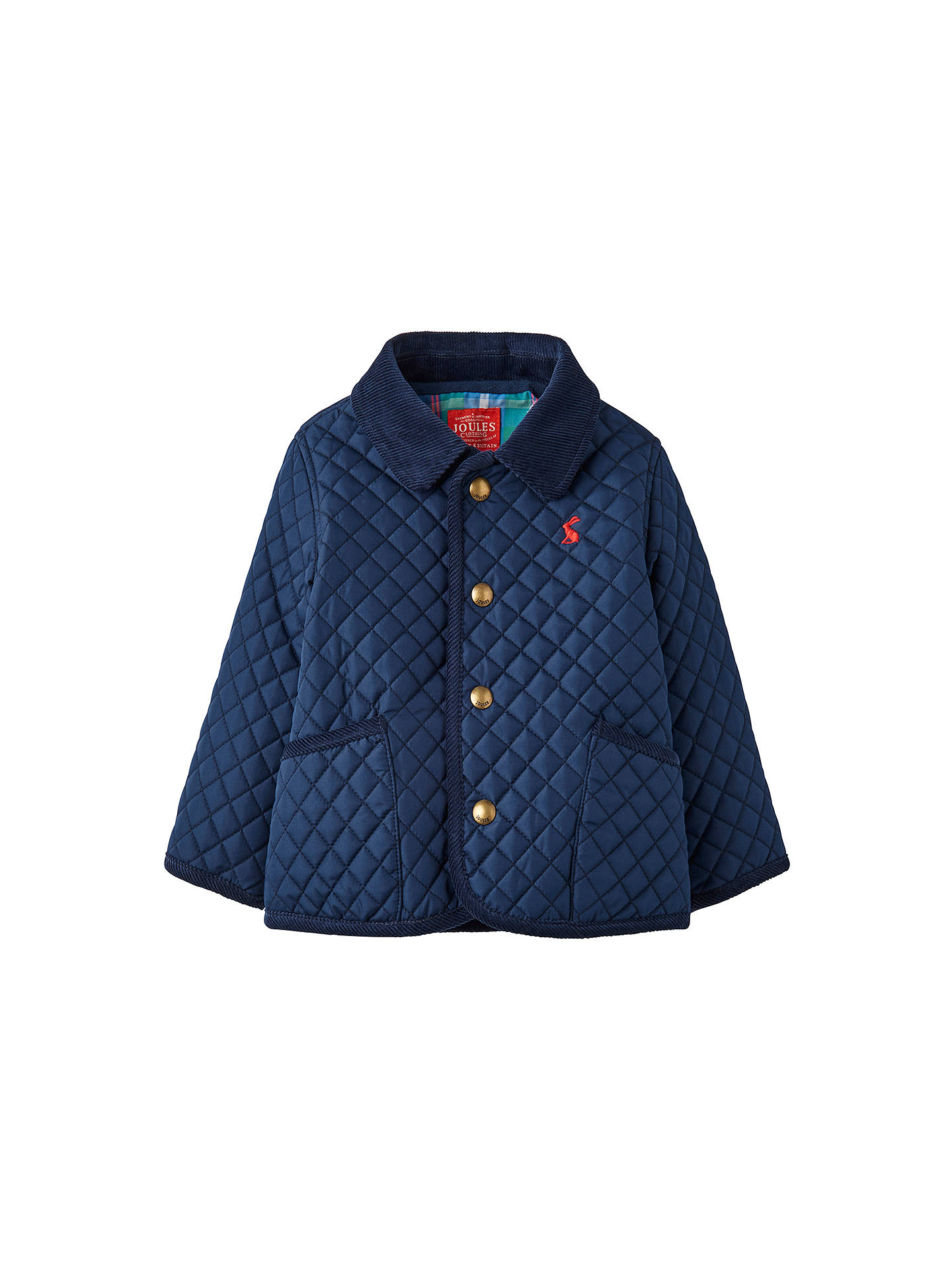 Baby Joule Milford Quilted Jacket Navy At John Lewis Partners