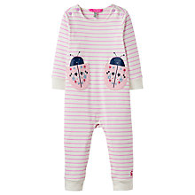 Buy Baby Joule Gracie Striped Playsuit, Pink/White Online at johnlewis.com