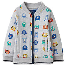 Buy Baby Joules Baby Brock Animal Bomber Jumper, Grey Online at johnlewis.com