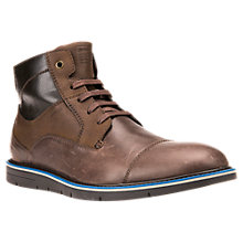 Buy Geox Uvet Lace-Up Leather Boots, Multi Brown Online at johnlewis.com