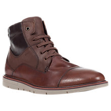Buy Geox Uvet Lace-Up Leather Boots, Brown Online at johnlewis.com