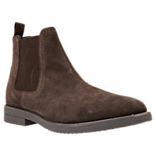 Buy Geox Brandled Suede Chelsea Boots, Dark Coffee Online at johnlewis.com