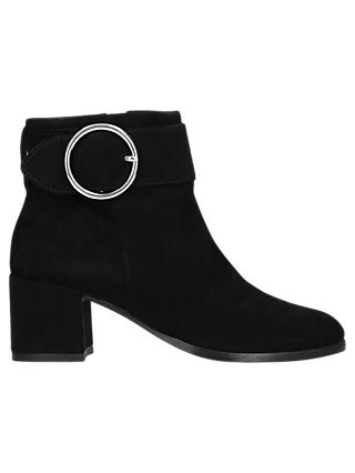 Carvela Snore Block Heeled Ankle Boots, Black Suede