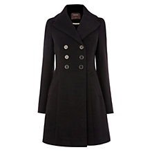 Buy Oasis Melissa Long Sleeve Skater Coat, Black Online at johnlewis.com