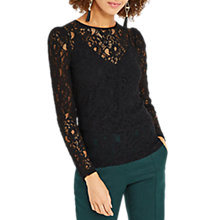 Buy Oasis Lace Puff Sleeve T-Shirt Online at johnlewis.com
