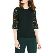 Buy Oasis Lace Fluted Sleeve Top Online at johnlewis.com