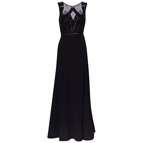 Buy Gina Bacconi Cordelia Beaded Fishtail Maxi Dress, Black Online at johnlewis.com