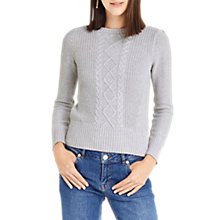 Buy Oasis Laura Cable Knit Jumper Online at johnlewis.com