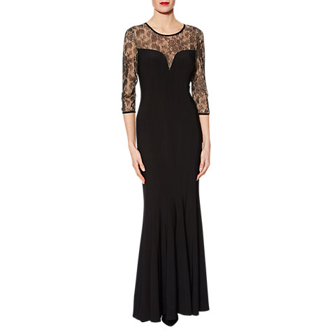 Buy Gina Bacconi Mona Sweetheart Maxi Dress, Black Online at johnlewis.com