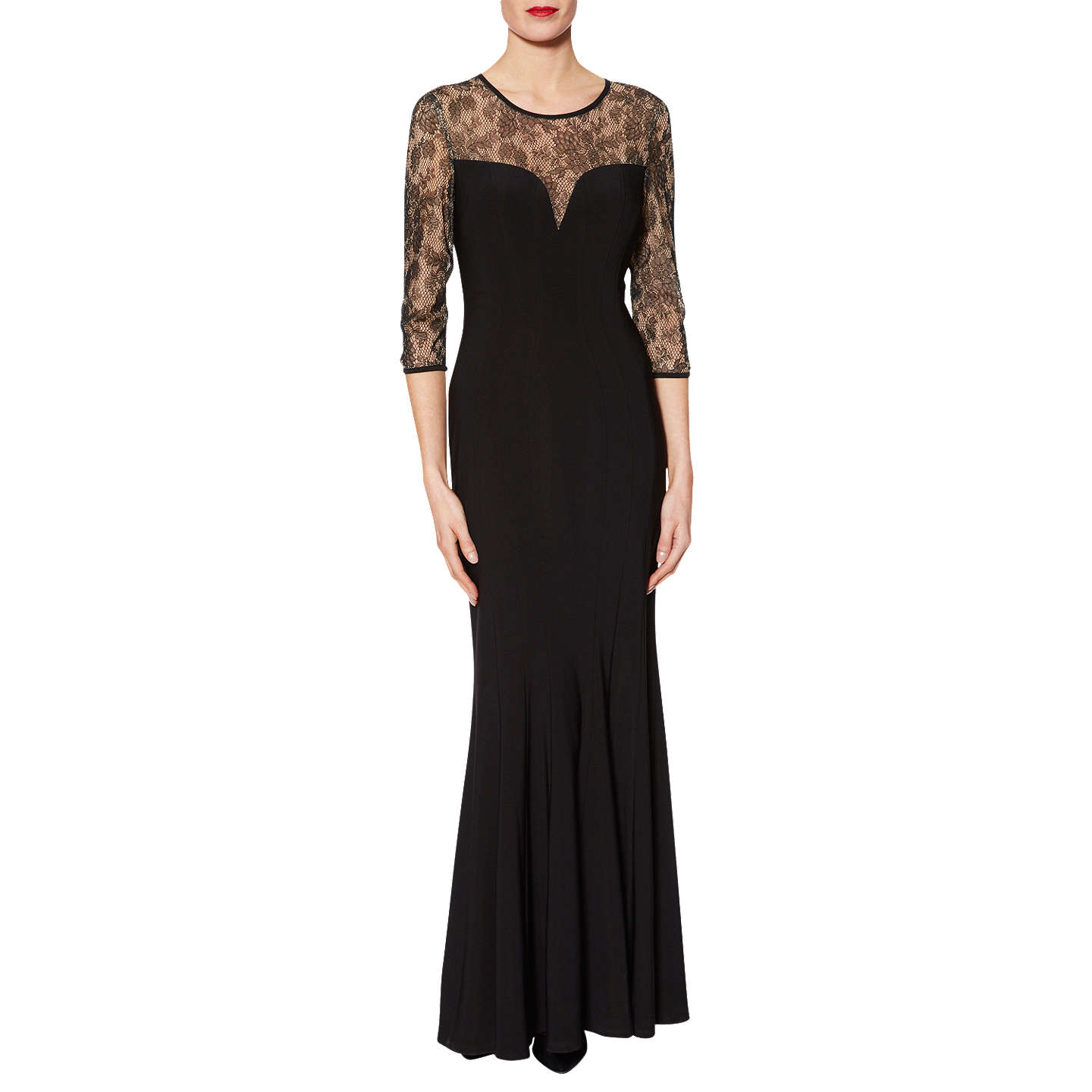 BuyGina Bacconi Mona Sweetheart Maxi Dress, Black, 12 Online at johnlewis.com