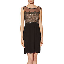Buy Gina Bacconi Judy Beaded Dress, Black Online at johnlewis.com
