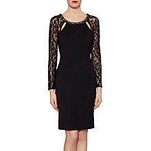 Buy Gina Bacconi Charlotte Long Sleeve Lace Dress, Black Online at johnlewis.com