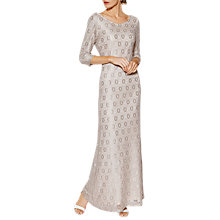 Buy Gina Bacconi Holly Lace Long Sleeve Maxi Dress, Beige Online at johnlewis.com