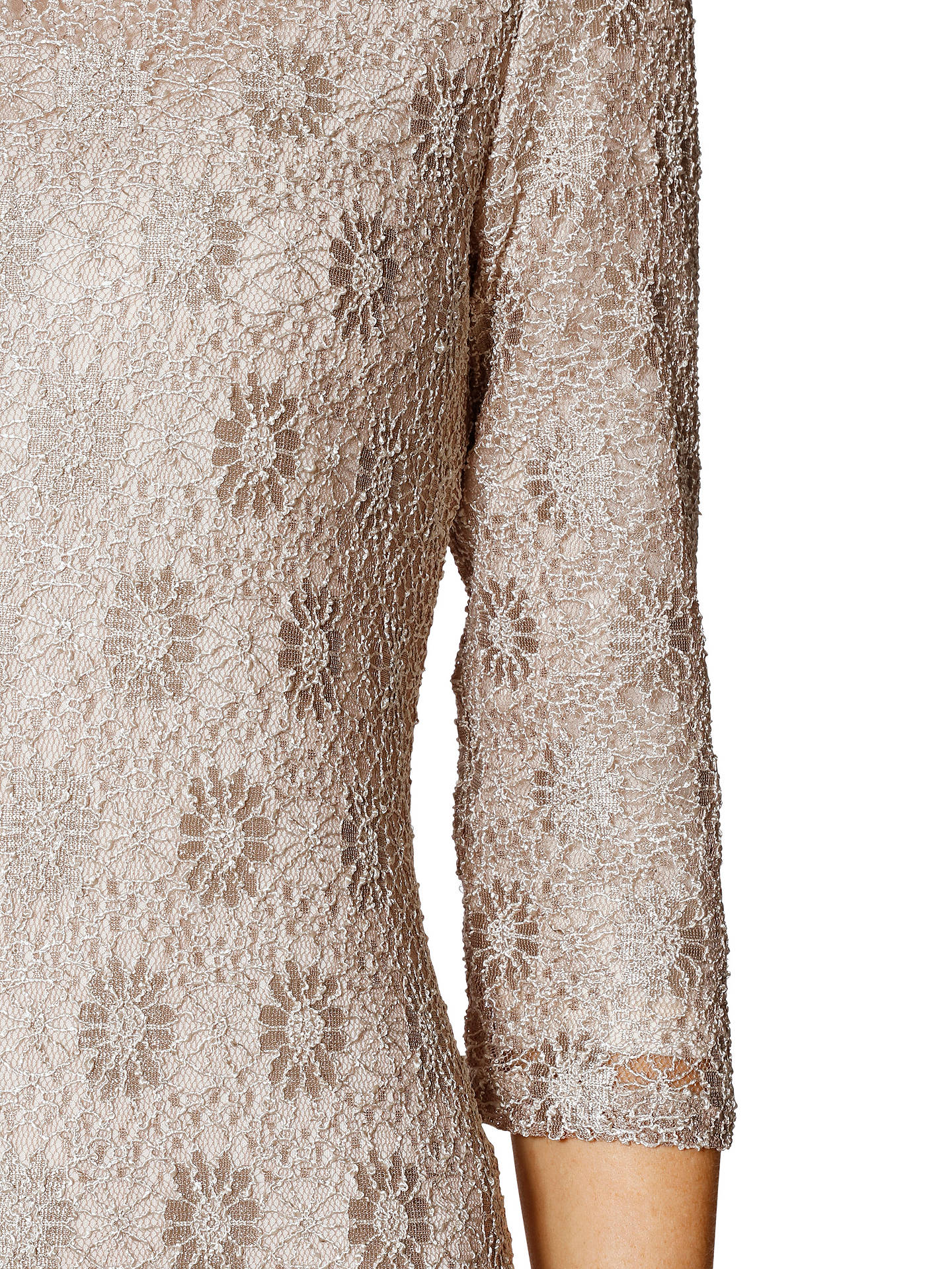 d1a3e8fc0 ... Buy Gina Bacconi Holly Lace Long Sleeve Maxi Dress, Beige, 20 Online at  johnlewis