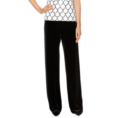 Gina Bacconi Caitlin Velvet Trousers, Black