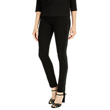Buy Phase Eight Aida Side Stripe Embellished Jeans, Black Online at johnlewis.com