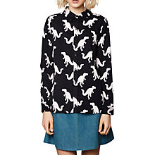 Buy Compañía Fantastica Dinosaur Print Shirt, Black Online at johnlewis.com