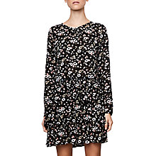 Buy Compañía Fantástica Flower Print Dress, Black Online at johnlewis.com