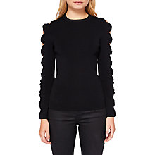 Buy Ted Baker Yonoh Cut Out Sleeve Jumper, Black Online at johnlewis.com