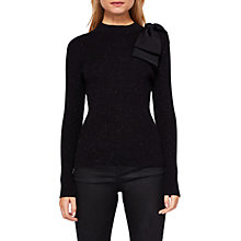 Buy Ted Baker Gabiell Bow Detail Sparkly Jumper, Black Online at johnlewis.com
