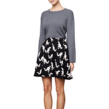 Buy Compañía Fantastica Dinosaur Print Skirt, Black Online at johnlewis.com