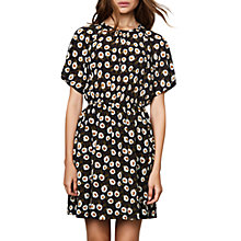 Buy Compañía Fantastica Flower Print Dress, Black Online at johnlewis.com