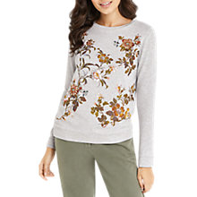 Buy Oasis Embellished Rosetti Jumper, Mid Grey Online at johnlewis.com