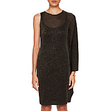 Buy Ted Baker Monyca Draped One Shoulder Sparkly Dress, Black Online at johnlewis.com