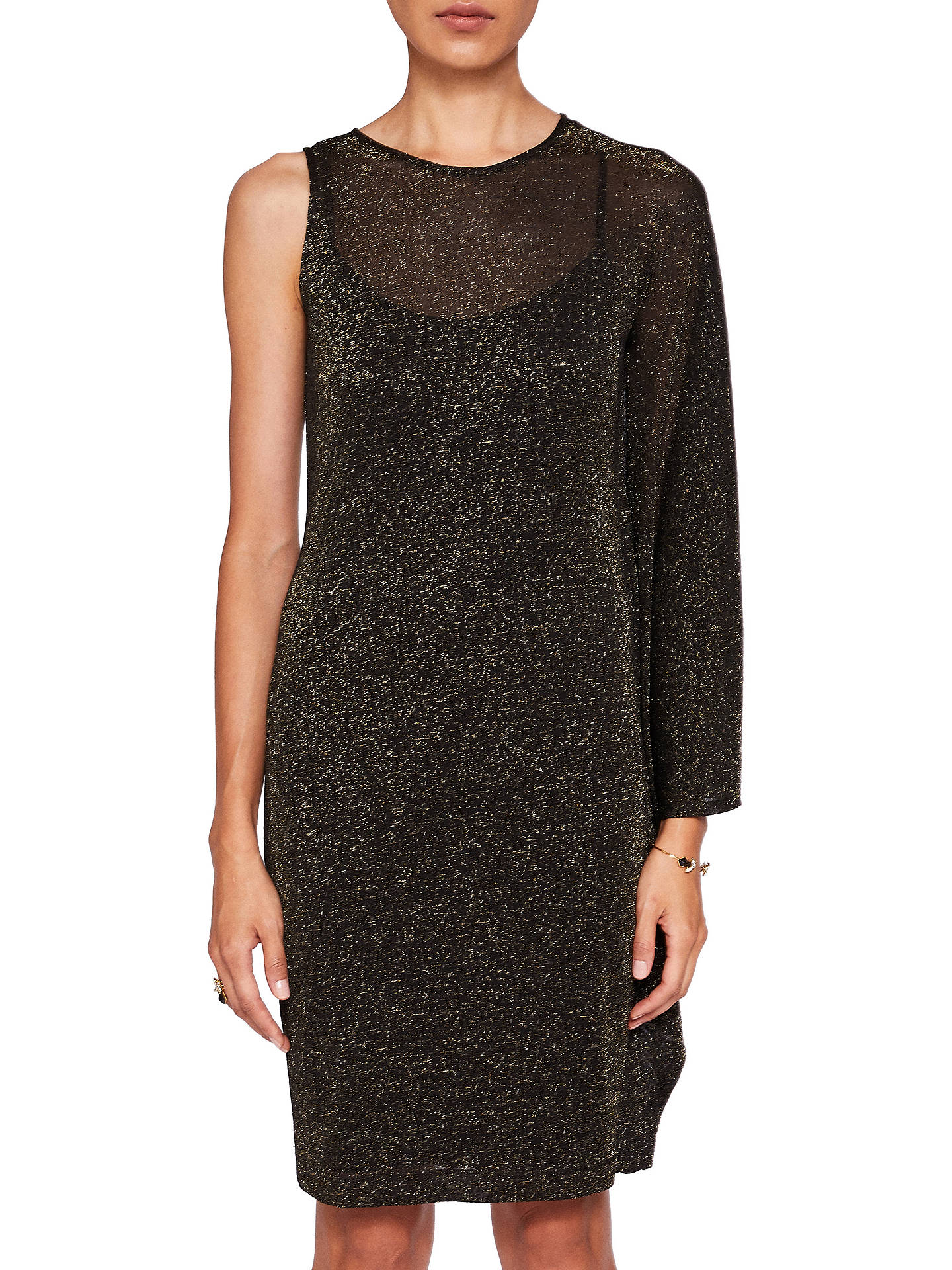 6144d486c5b50 Buy Ted Baker Monyca Draped One Shoulder Sparkly Dress