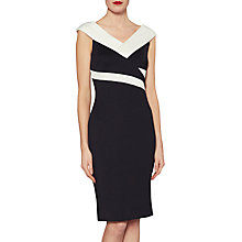 Buy Gina Bacconi Janet Contrast Panel Dress, Black/Ivory Online at johnlewis.com