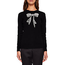 Buy Ted Baker Bowsi Bow Embellished Jumper Online at johnlewis.com
