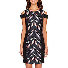 Buy Ted Baker Zyra Cut Out Bodycon Dress, Black/Multi Online at johnlewis.com