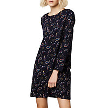 Buy Compañía Fantastica Paisley Straight Dress, Black Online at johnlewis.com